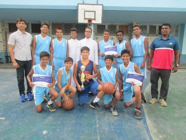 U-14 school Basketball team wins NBA City finale; 5 basketball players shortlisted for R. F.Jr NBA All Star Tryouts
