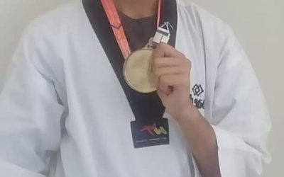 Mauryansh Mehta wins gold in Taekwondo at the Nationals