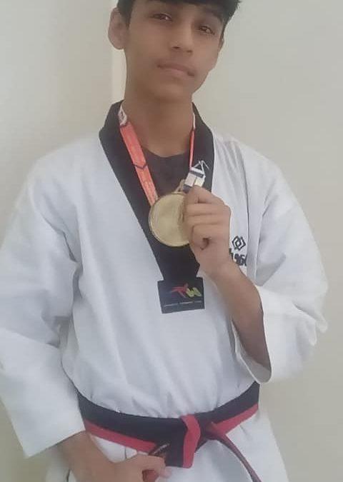Mauryansh Mehta wins gold in Taekwondo at the Nationals
