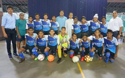 Our u-14 football team wins Mumbai city championship title!