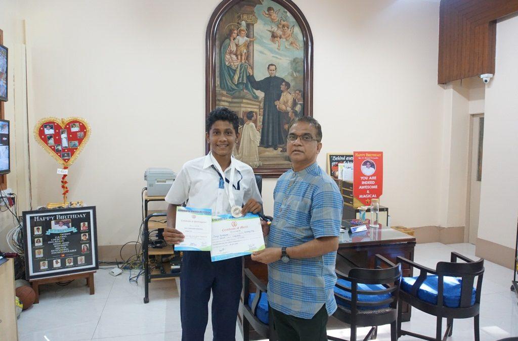 Master Aarya Kandakumar clinches silver at state level Junior Athletics Championship