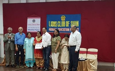 Sir Cliffrichard D' Souza and our SSC toppers honoured at the Lions Club of Sion