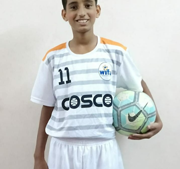 Vedant Sawant represents Maharashtra at West Zone Sub-Junior National Football Championship for boys