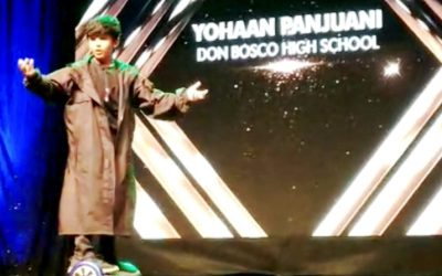 Our young star Master Yohaan Panjuani shines at the14th Annual Pearl Padamsee Trophy for Excellence in Speech and Drama