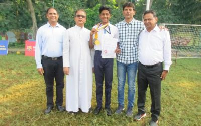 Aarya wins National Bronze in Long jump