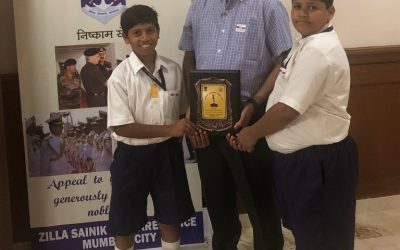 School felicitated at the Armed Forces Flag Day Fund Collection ceremony