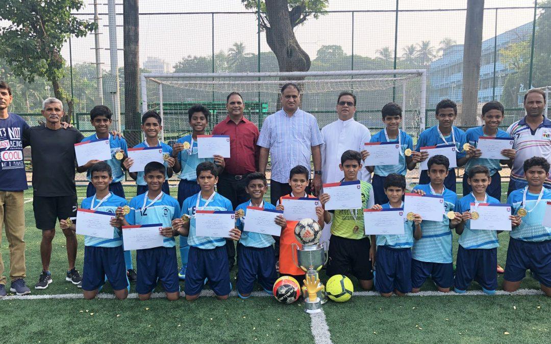 Don Bosco Matunga u-14 team is Reliance Cup Mumbai city champion; u-16 team settles for the silver.