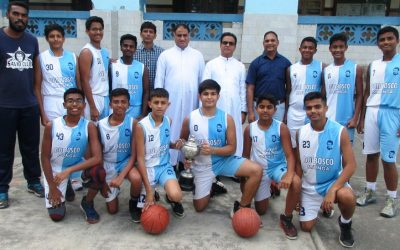 School u-16 basketball team claims the MSSA trophy!