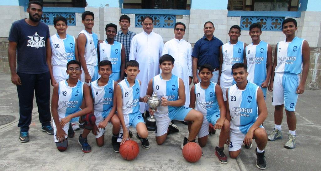 School u-16 basketball team claims the MSSA trophy!