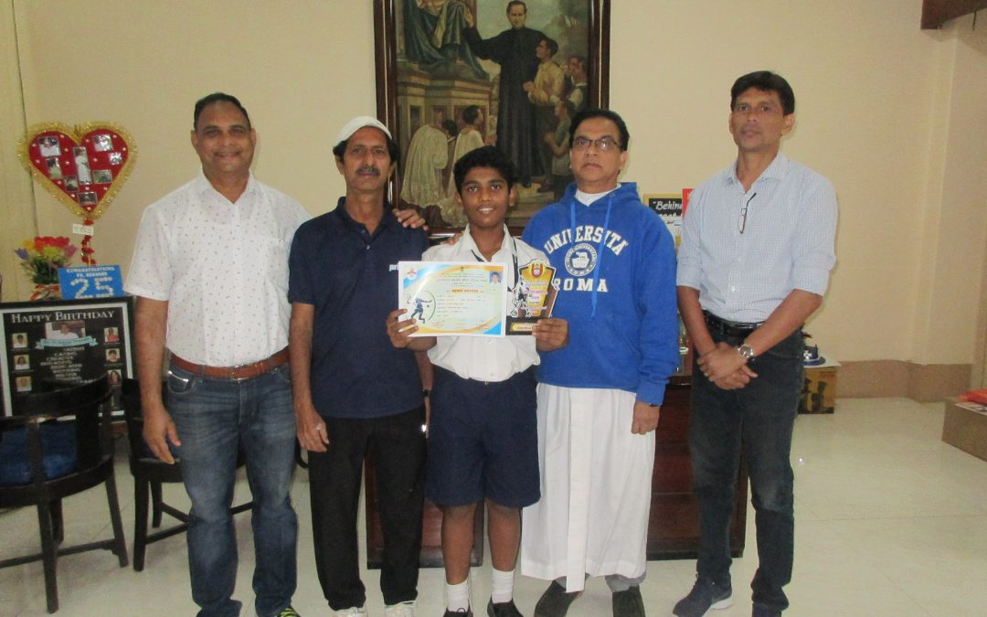 Soft tennis- Arjun Babu secures the gold medal