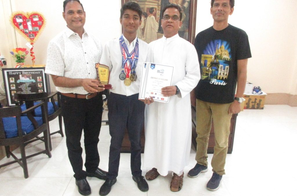 Prayag Jaiswal our champion swimmer