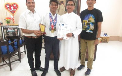 Prayag Jaiswal our champion swimmer