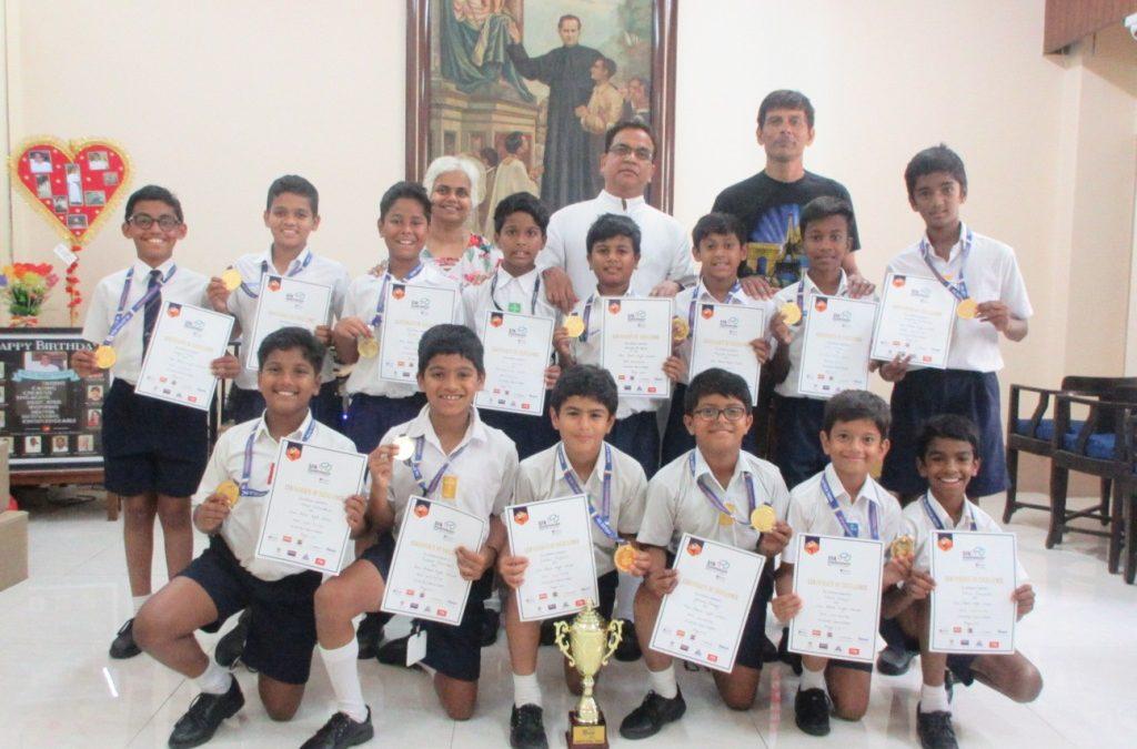 U-12 football team clinches the SFA trophy