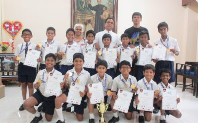 U-12 football team clinches the SFA trophy