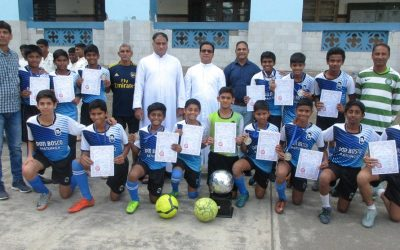 U-14 football team clinches the silver in the MSSA organized Utpal Sanghvi tournament