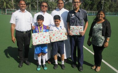 Award winners at Mani Bhavan competition