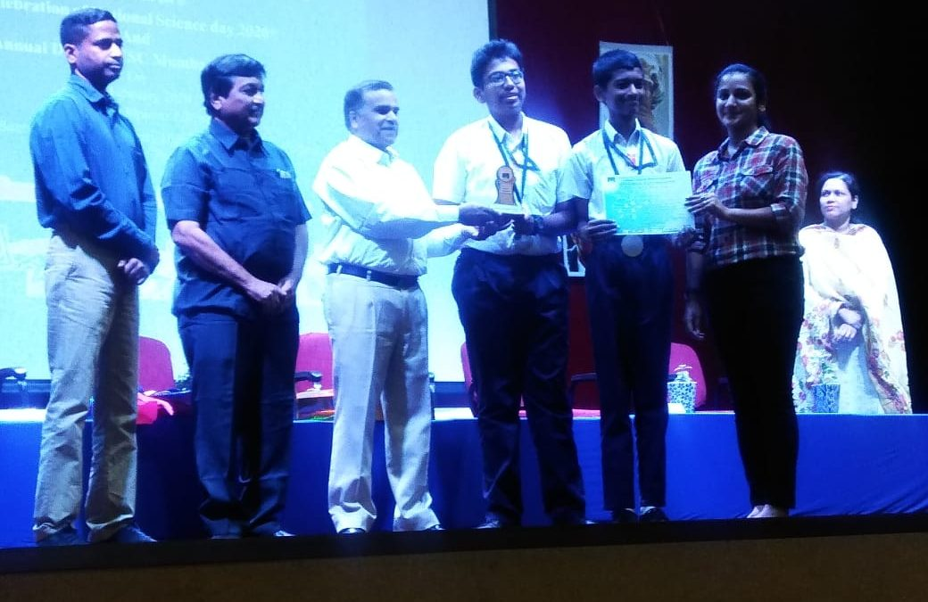 Our promising National award winning Junior Scientists felicitated