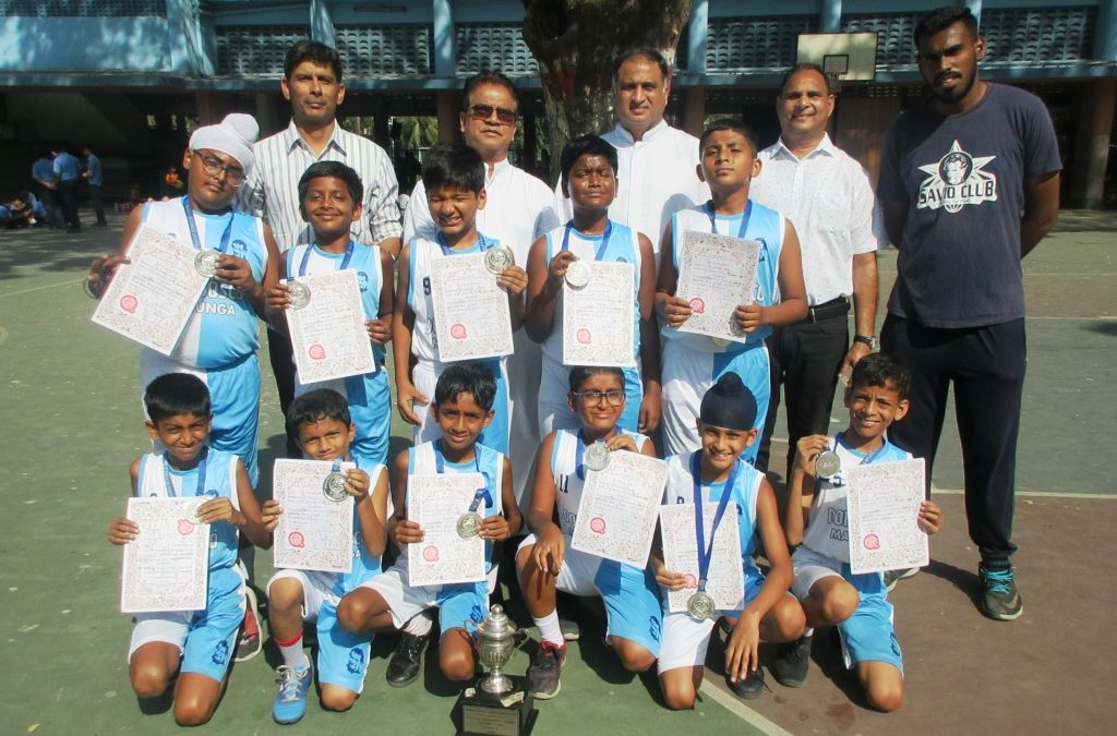 u-11 basketball team clinches runners-up position at the MSSA tournament