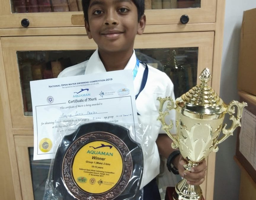 Prayag Phatak wins overall fastest swimmer award