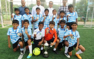 U-12 Football 'B' team secures the runners up trophy in the Div II MSSA tournament.